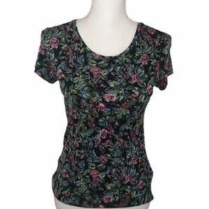 Philosophy Black Moody Floral Shirt SS XS